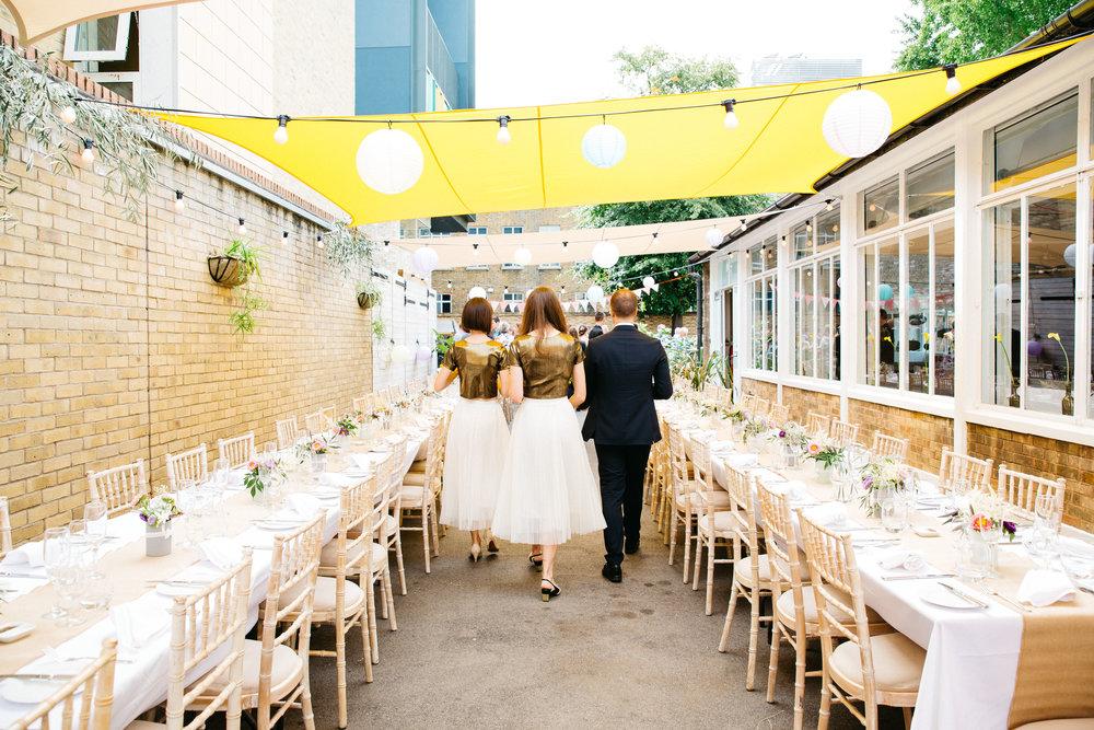 Wedding tables outdoor wedding