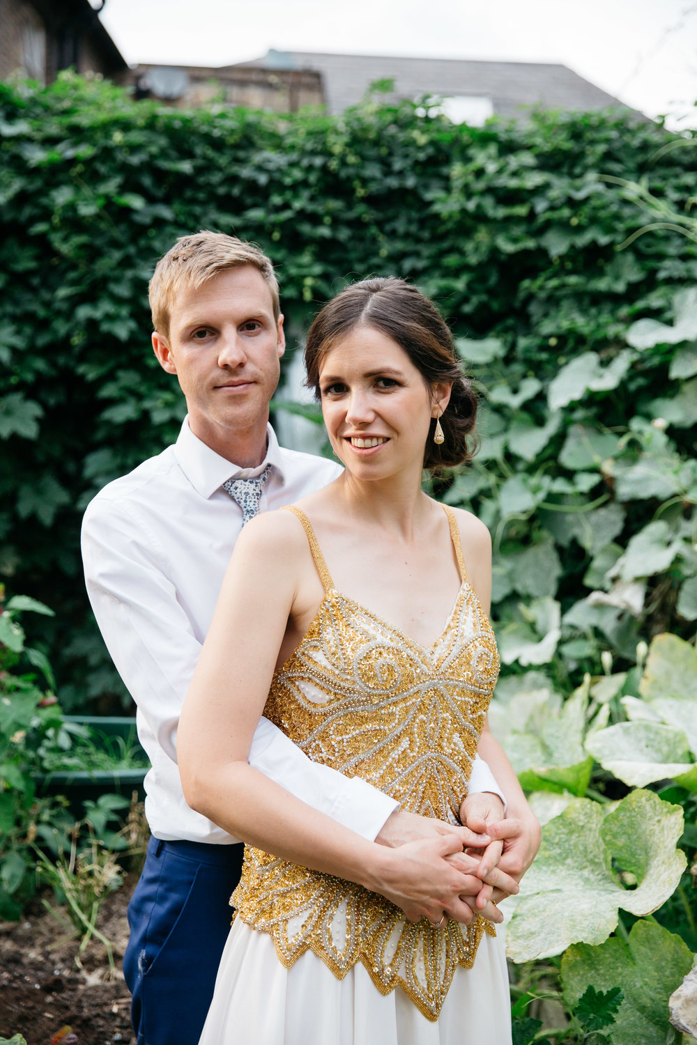 Bride and Groom in Allotment London