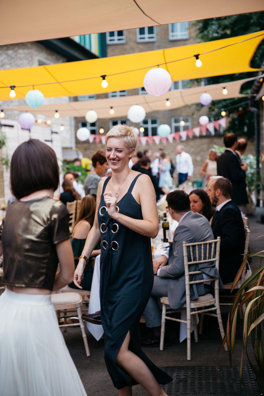 Wedding guests dancing London