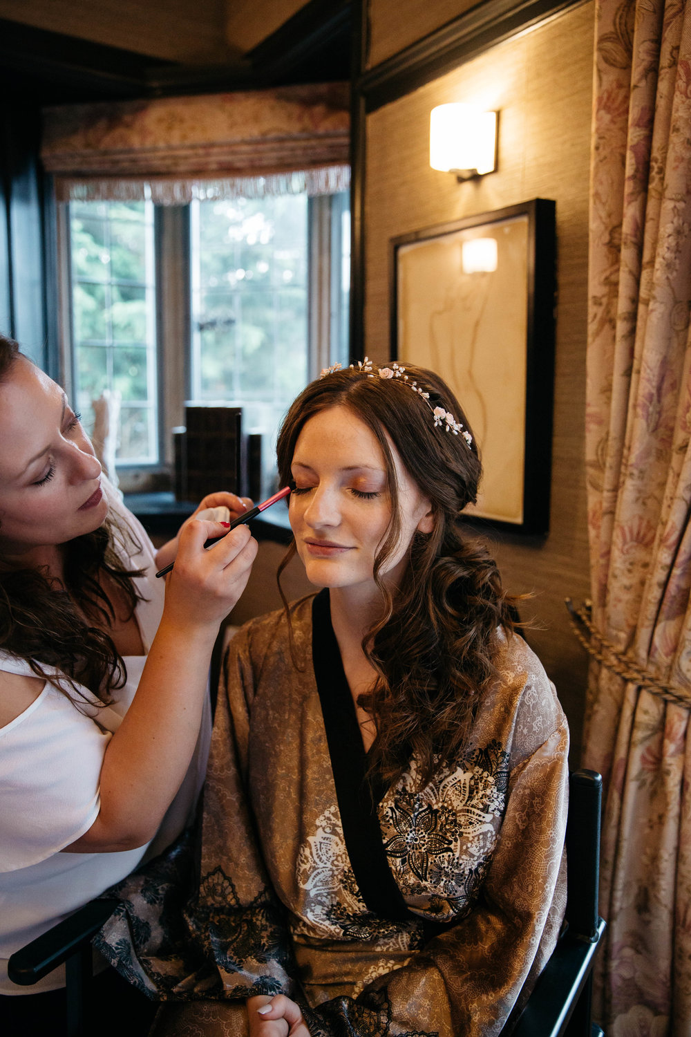 Wedding MUA and Bride Victoria Edwards at Falcon Manor Wedding Photography Yorkshire