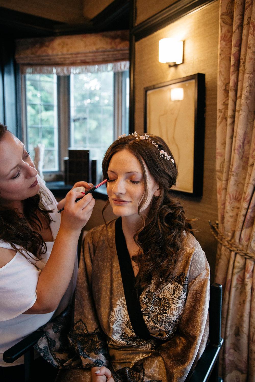 Wedding MUA and Bride Victoria Edwards at Falcon Manor Wedding Photography Yorkshire