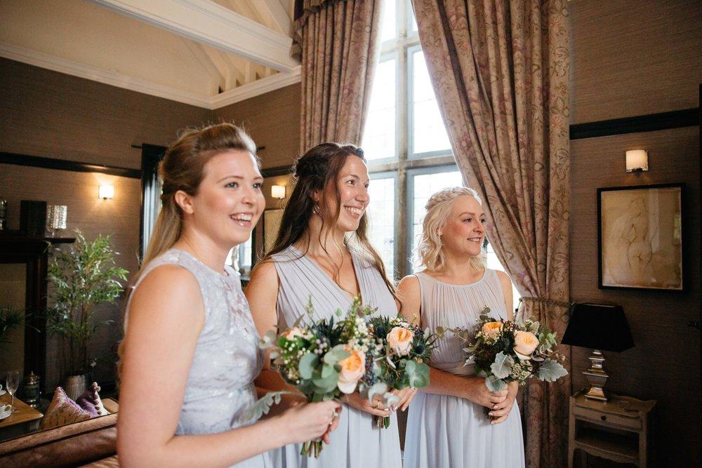 Bridesmaids at Falcon Manor Wedding Photography Yorkshire
