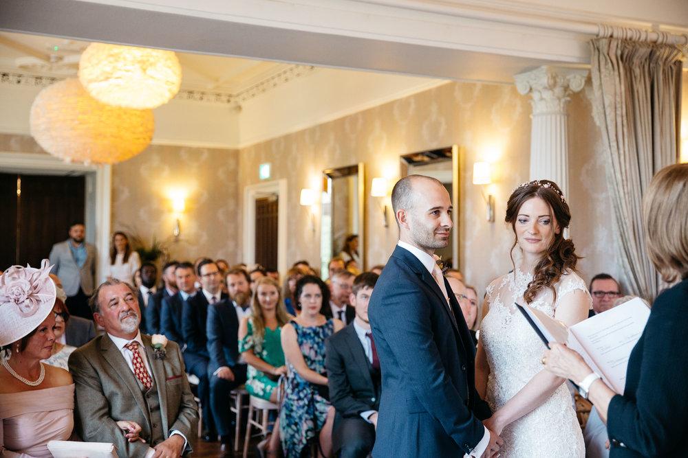 Wedding ceremony at Falcon Manor Wedding Photography Yorkshire