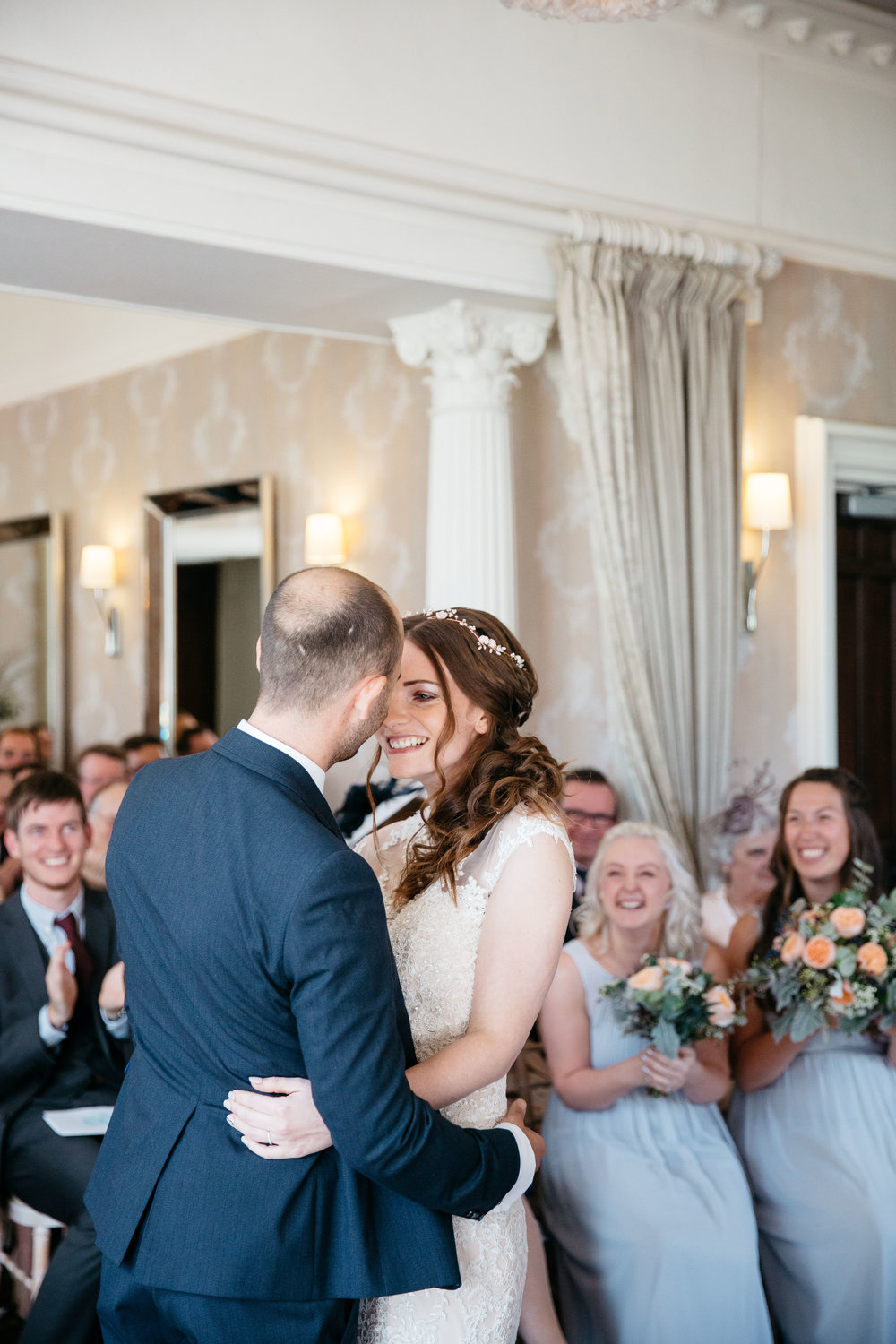 Just married at Falcon Manor Wedding Photography Yorkshire