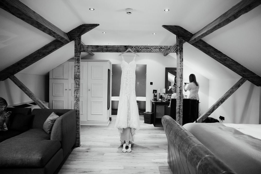 WEDDING DRESS AT HOTEL DU VIN HARROGATE