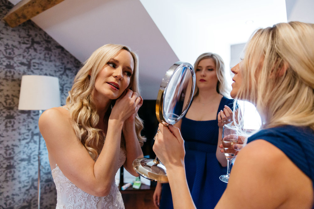 Bride getting ready at Hotel Du Vin Harrogate
