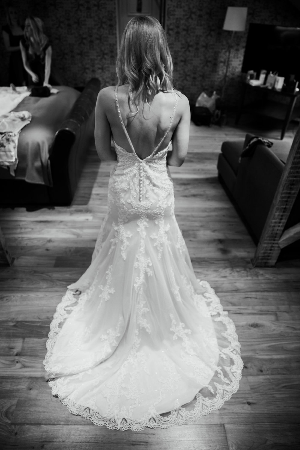 Bride in wedding dress from The Bridal Emporium Leeds