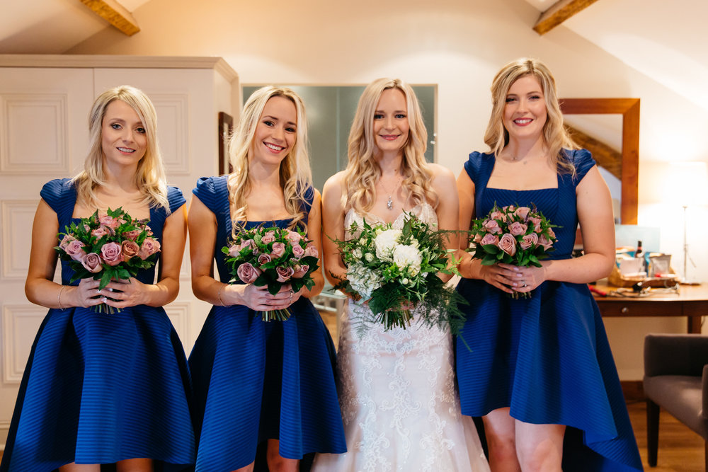 Bride and Bridesmaids at Hotel Du Vin Harrogate