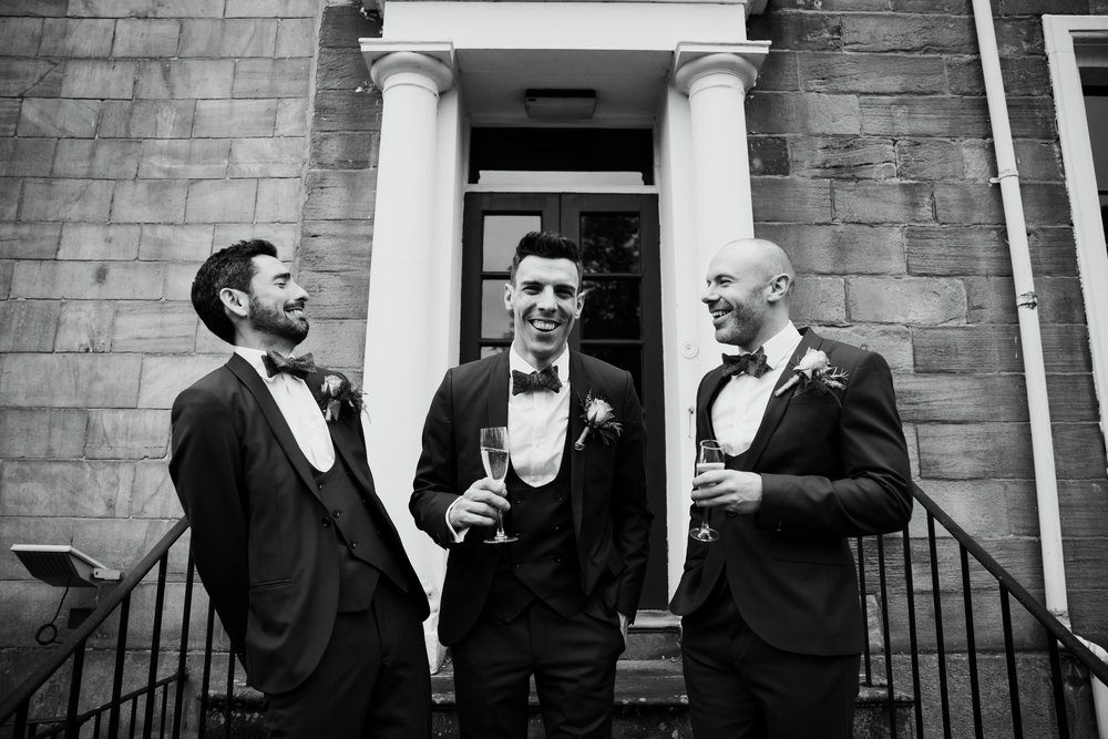 Groom and ushers at Hotel Du Vin Harrogate