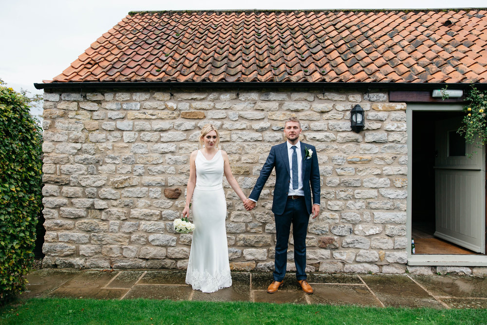 Bride & Groom at The Star Inn Harome / North Yorkshire Wedding Photography