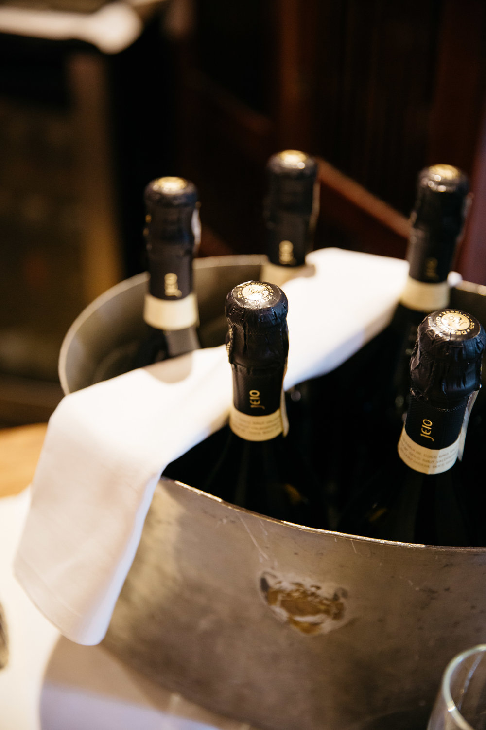 Champagne at The Star Inn Harome Yorkshire Wedding Photography