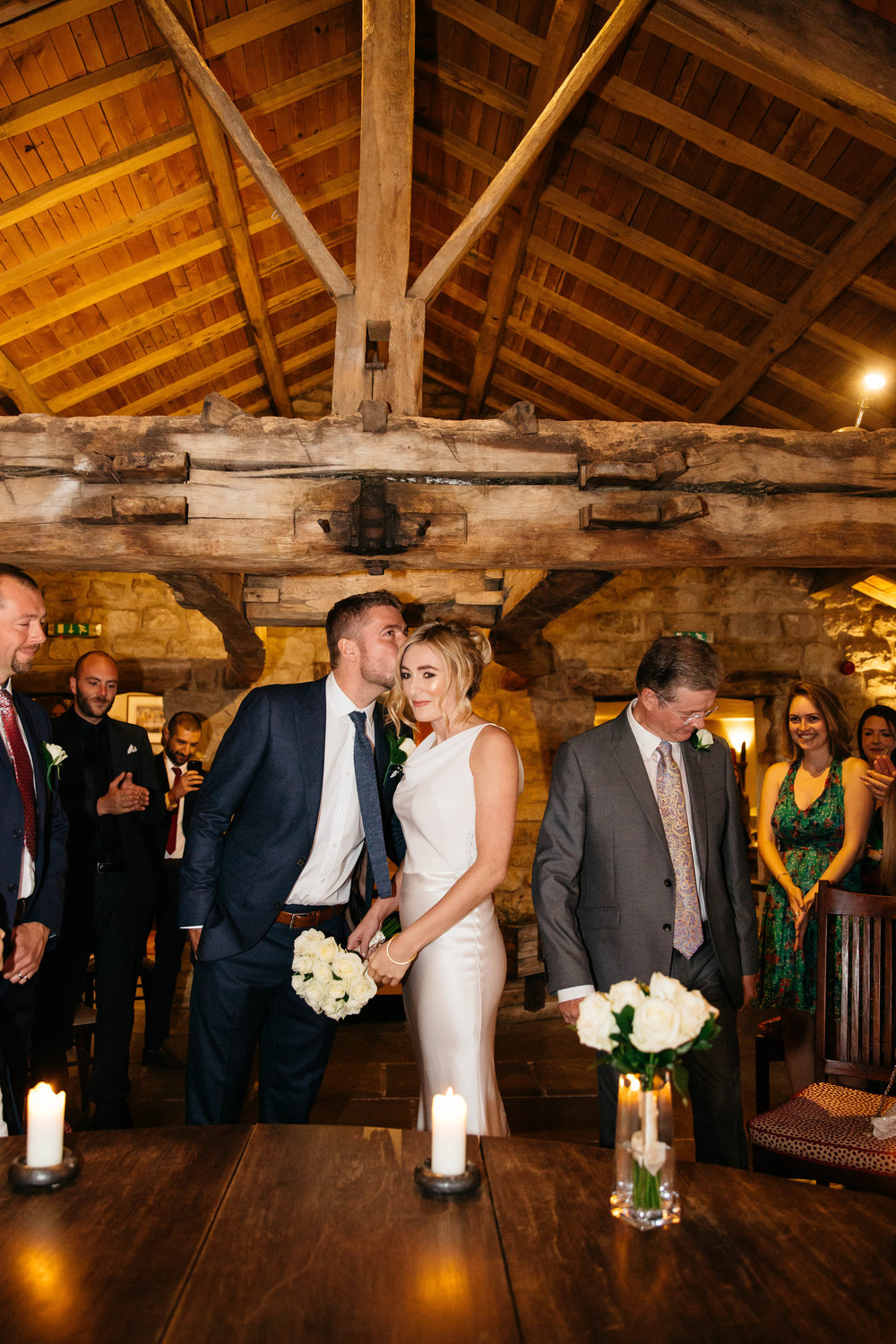 Wedding ceremony at The Star Inn Harome Yorkshire Wedding Photography
