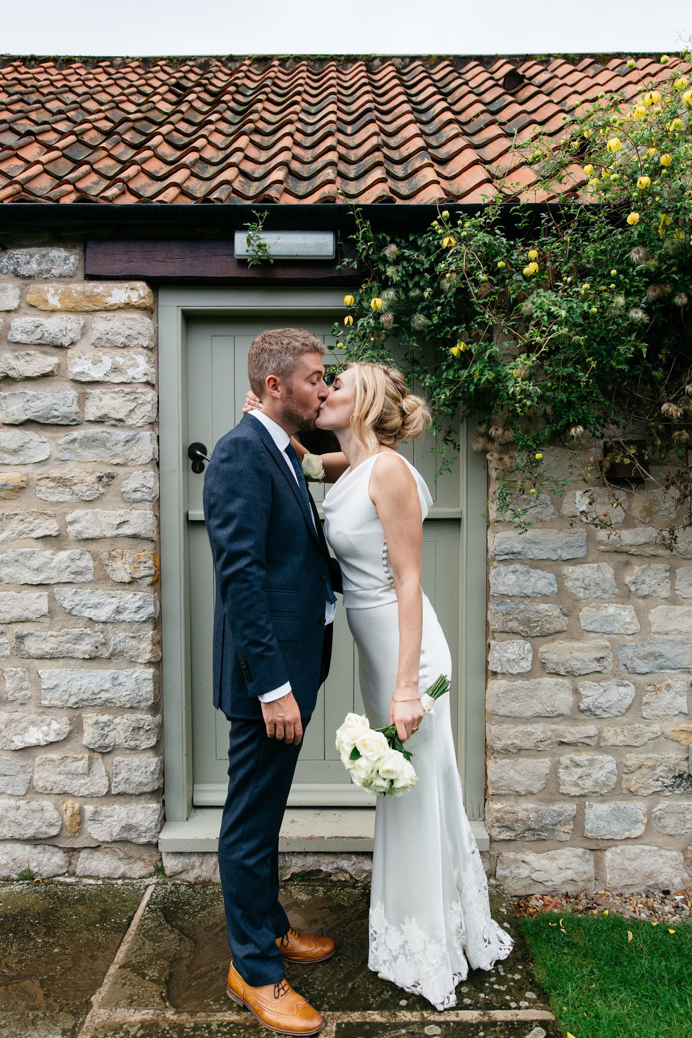 Bride and Groom at The Star Inn Harome Yorkshire Wedding Photography