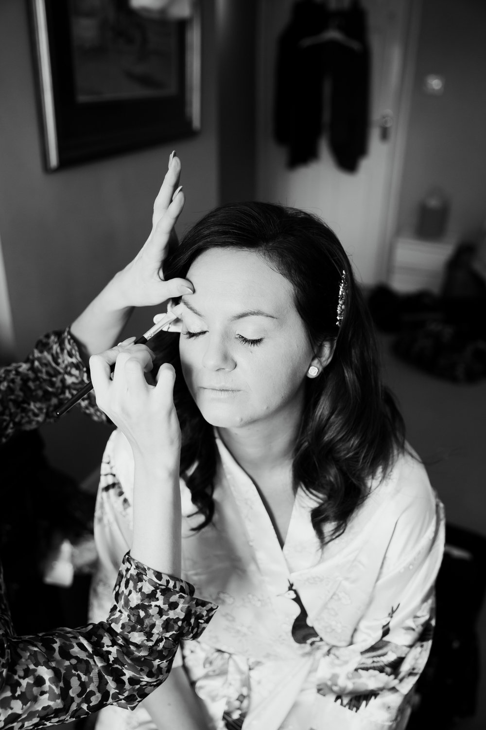 Bride samantha getting ready | Harrogate Wedding Photographer