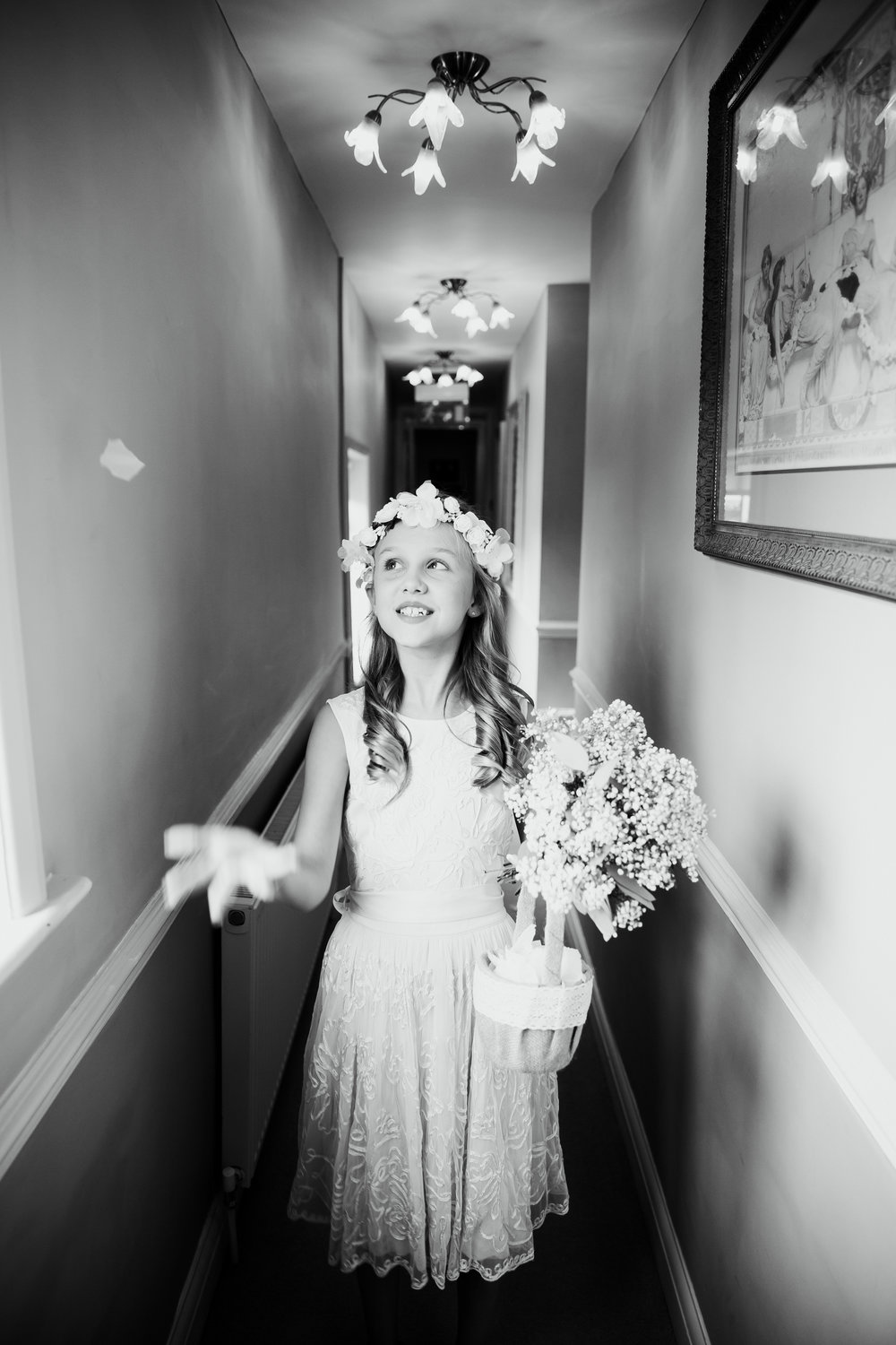Flower Girl practising | Harrogate Wedding Photographer