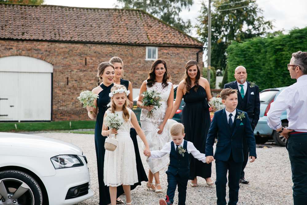 Bridal party entering ceremony | Harrogate Wedding Photographer