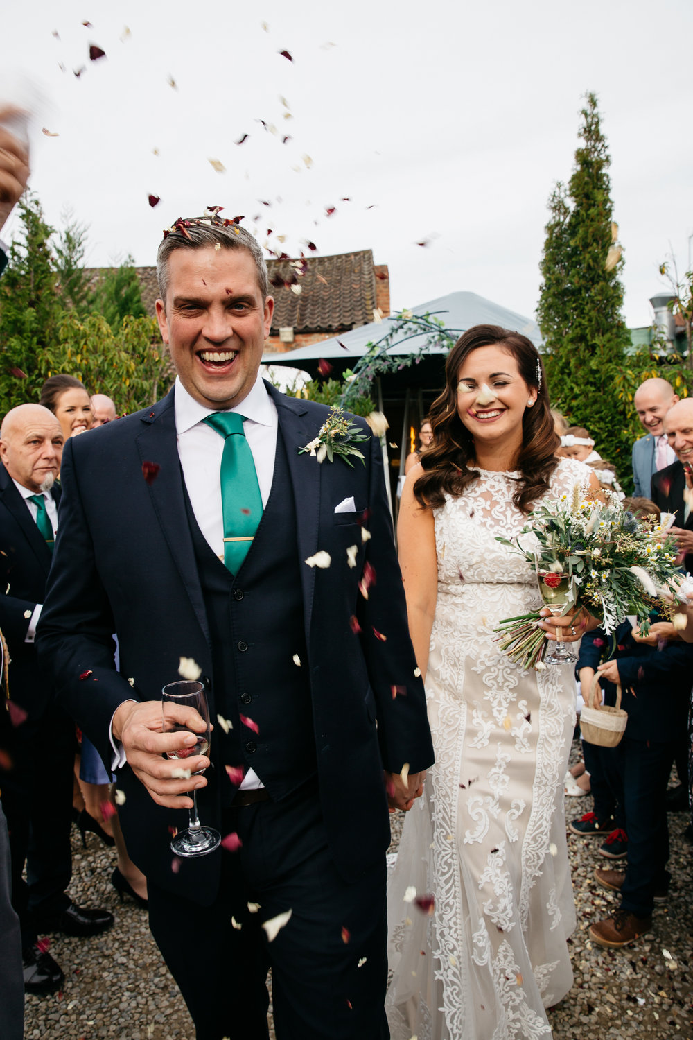 Confetti shot Samantha & Steve | Harrogate Wedding Photographer