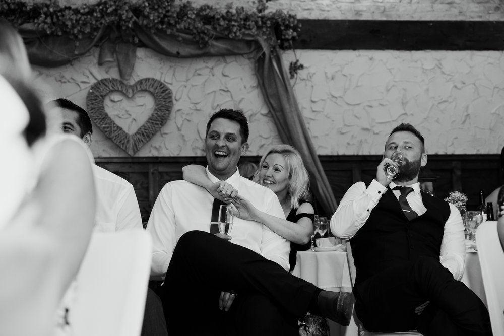 Speeches reactions | Harrogate Wedding Photographer