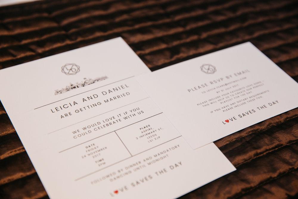 Wedding Stationery Leicia & Daniel | Leeds Creative Wedding Photographer