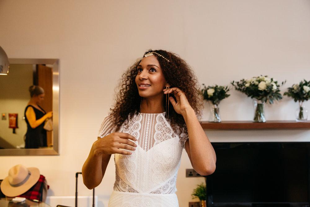 Bride in wedding dress | Leeds Creative Wedding Photographer