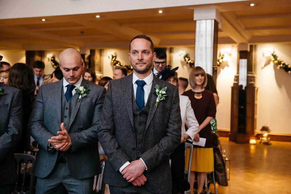 Nervous groom at Aspire Leeds | Leeds wedding Photographer
