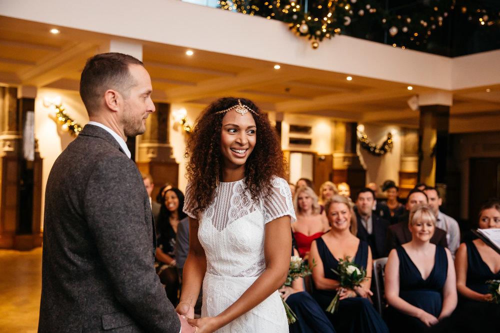 Leicia & Daniel wedding ceremony at Aspire Leeds | Aspire Leeds wedding Photographer
