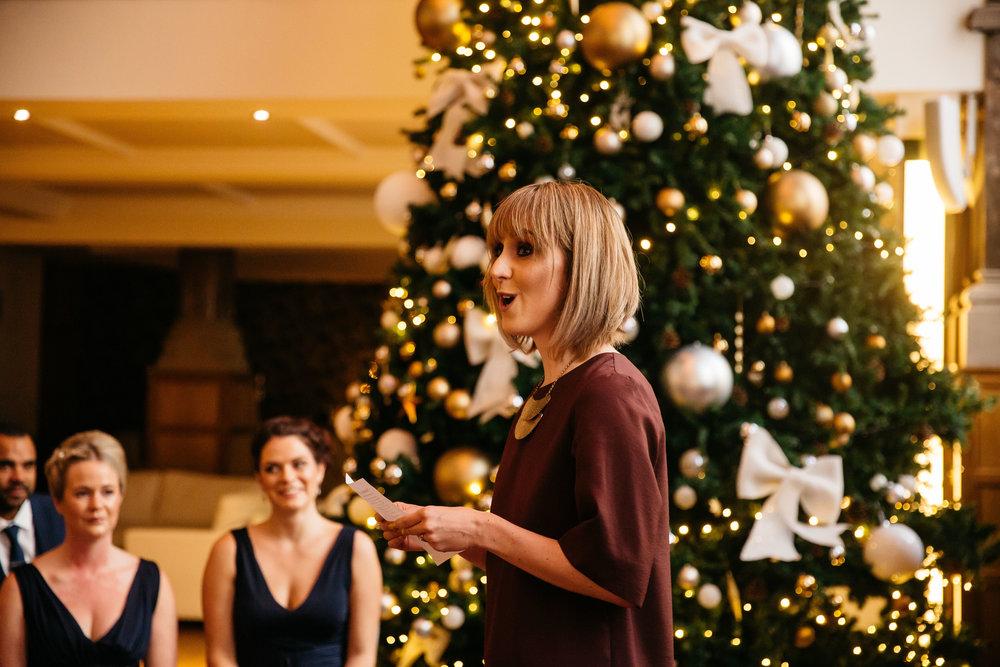 Wedding reading at Aspire Leeds | Aspire Leeds wedding Photographer