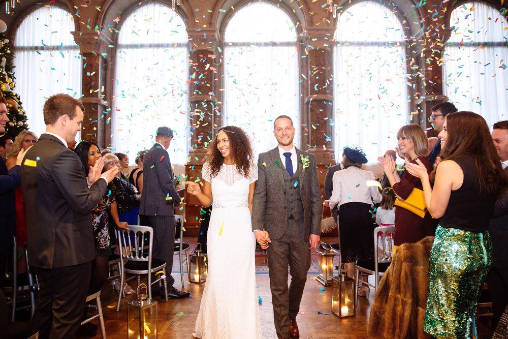 Confetti Bomb at Apire Leeds | Aspire Leeds wedding Photographer