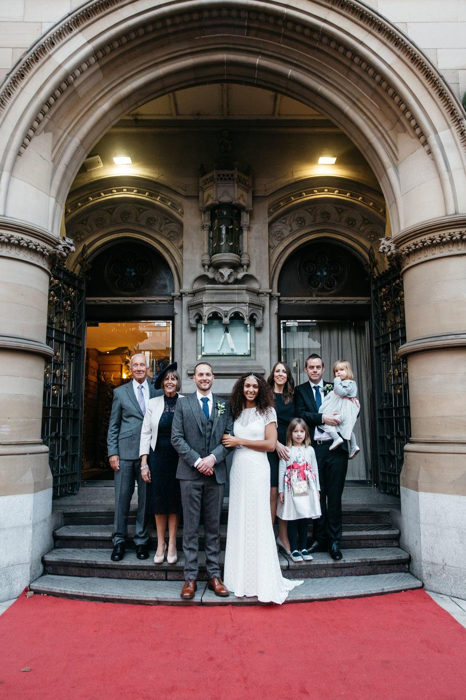 Family portraits at Aspire wedding Leeds | Wedding Photographer Leeds