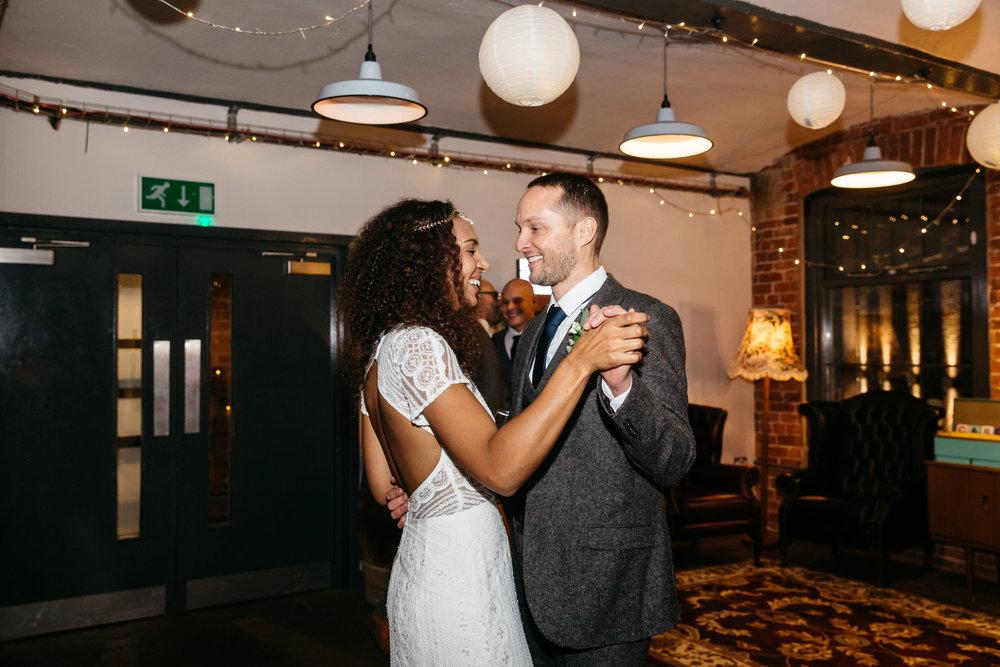 Bride and Groom dance entrance | Wedding Photographer Leeds