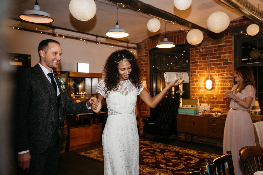 Bride and Groom entrance | Wedding Photographer Leeds