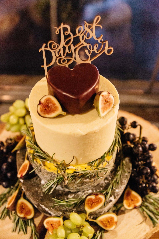 Cheese Wedding Cake at Northern Monk Brewery | Wedding Photographer Leeds