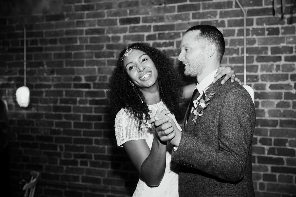First Dance at Northern Monk Brewery Wedding | Wedding Photographer Leeds