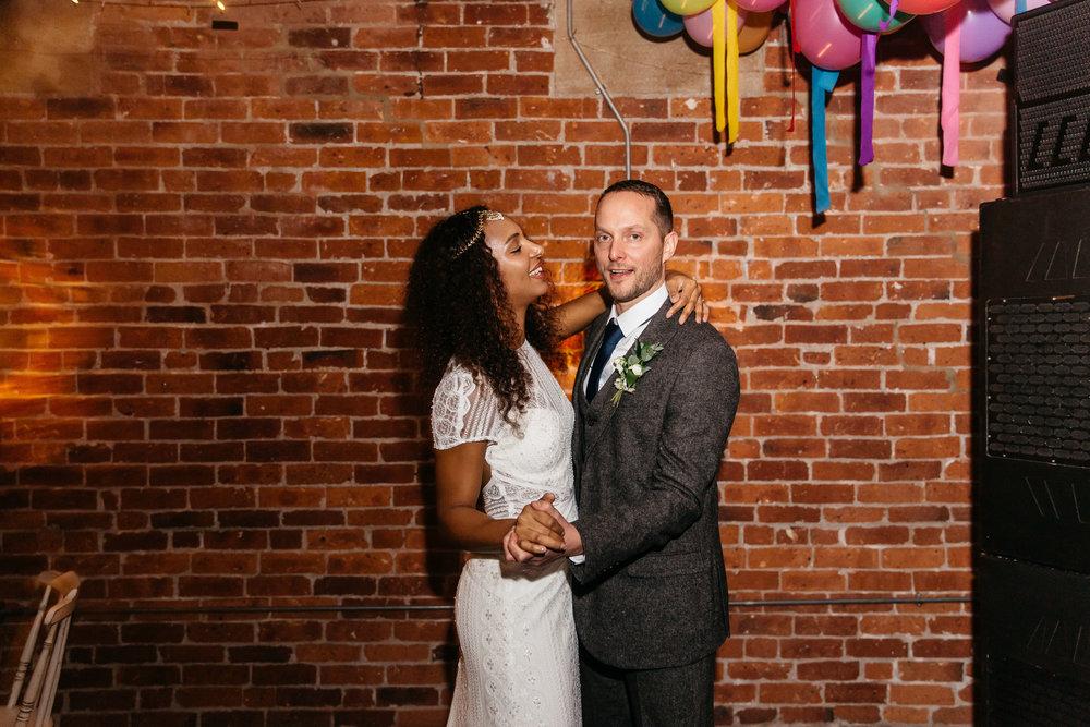 First Dance at Northern Monk Brewery | Wedding Photographer Leeds