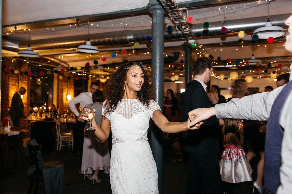 Bride dancing | Wedding Photographer Leeds