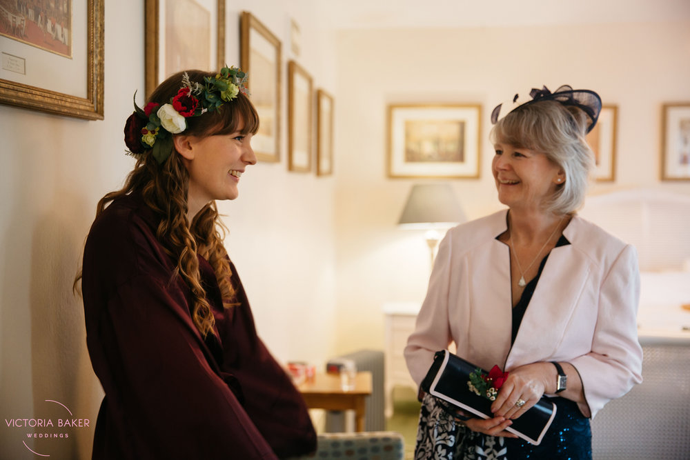 Bride and Mother of the Bride at Monk Fryston Hall | Wedding photographer Leeds