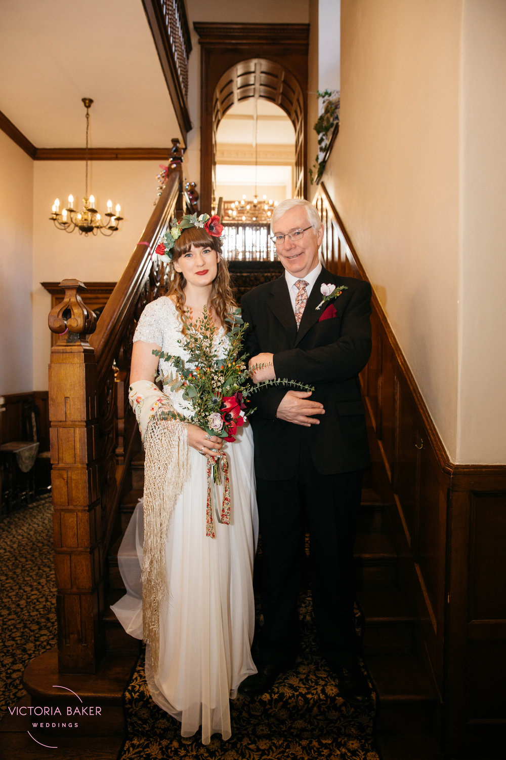 Bride and Father of the Bride at Monk Fryston Hall | Wedding photographer Leeds