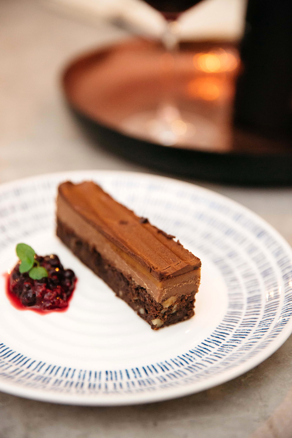 Chocolate dessert from Dine Delivered