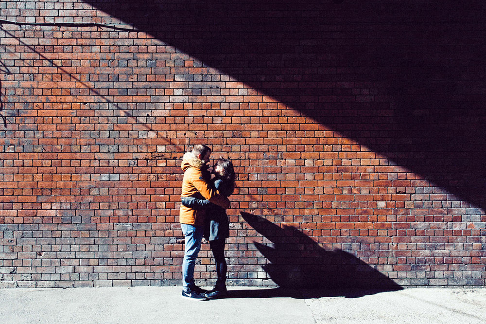 Rebecca & Shaun Engagement photography Leeds City Centre