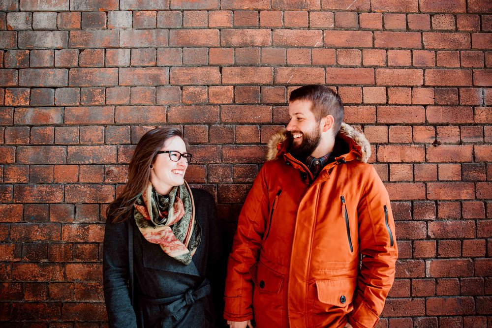 Rebecca & Shaun Engagement session at Granary Wharf