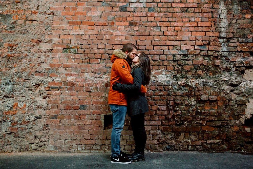 Rebecca & Shaun Engagement session Granary Wharf Leeds