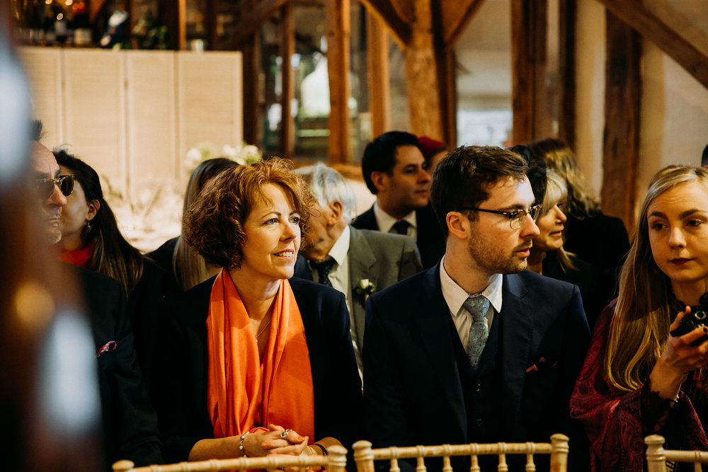 Wedding guests at Old Luxter's Barn at The Chilterns wedding