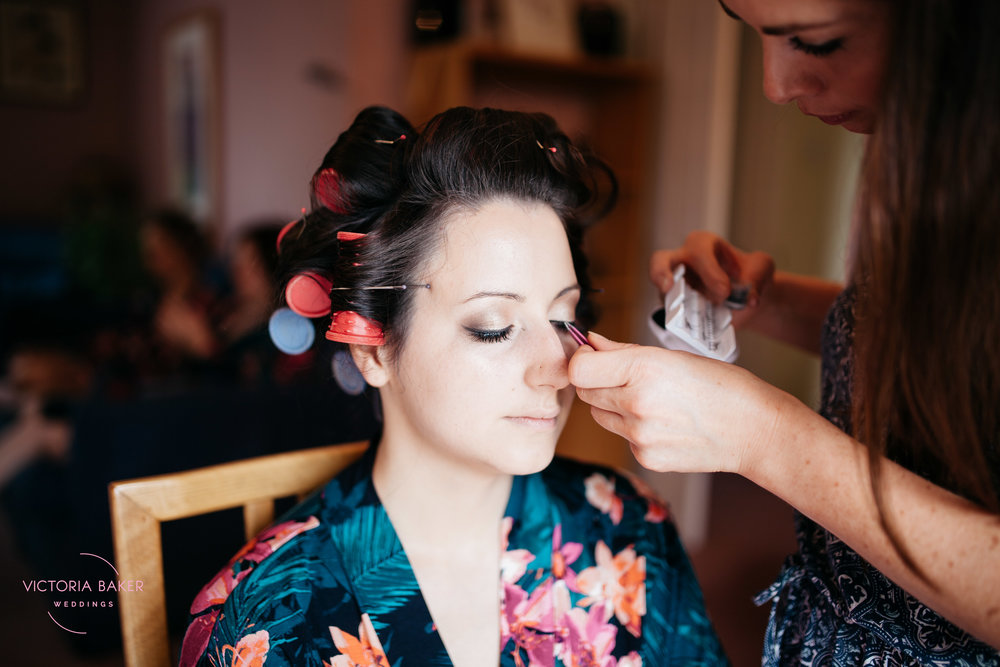 Emma getting hair and make up | Creative Yorkshire Wedding Photographer