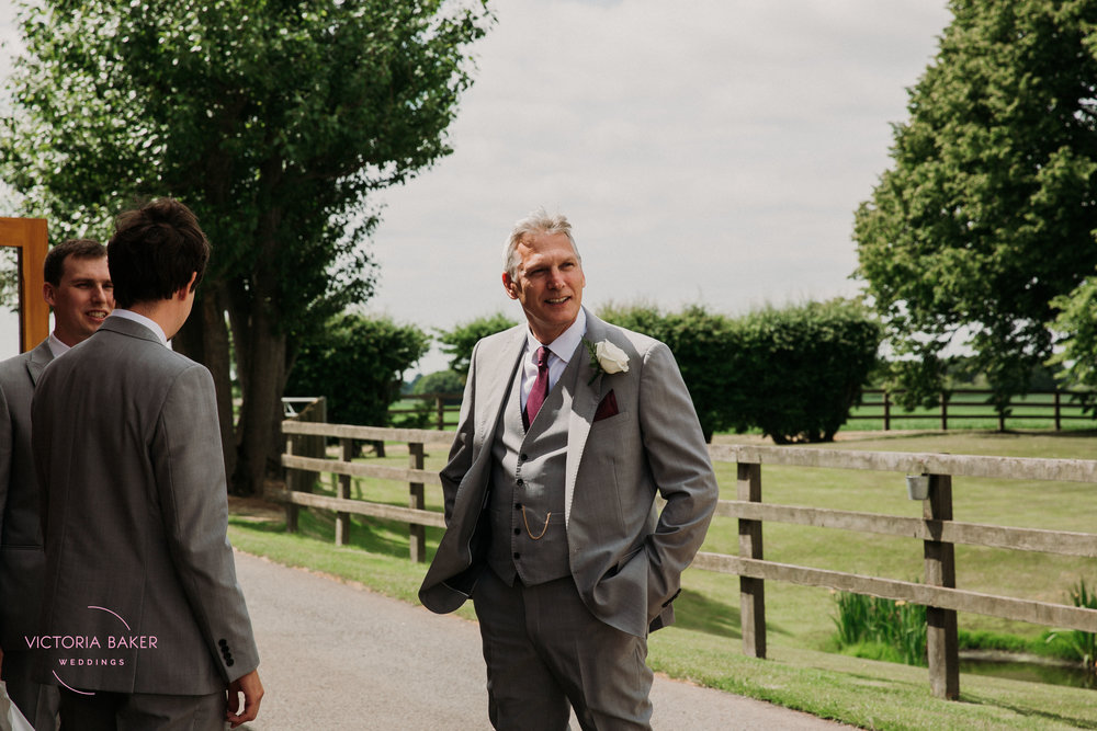 Father of the Groom at Barmbyfield Barn | Creative Yorkshire Wedding Photographer