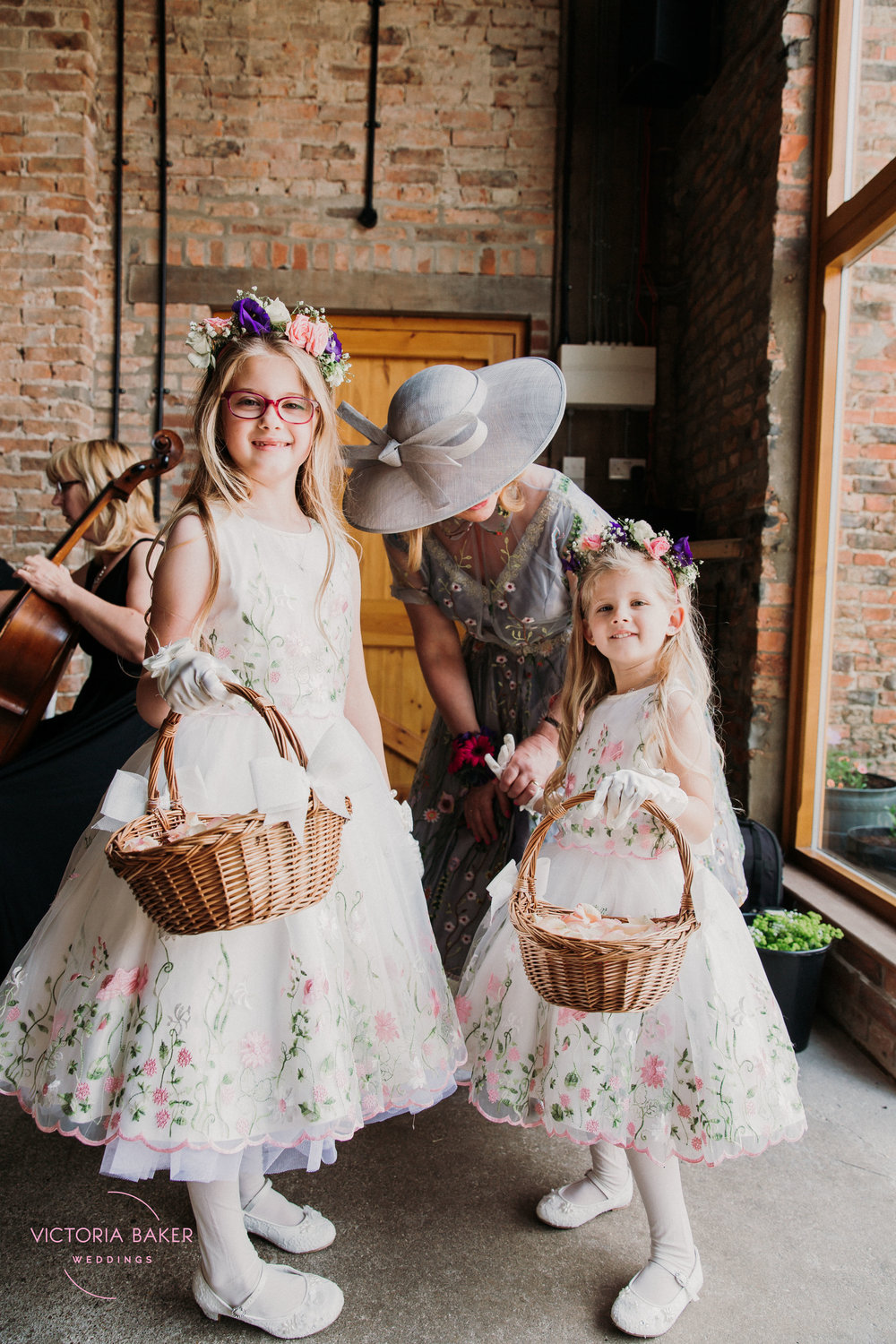 Flower Girls at Barmbyfield Barn | Creative Yorkshire Wedding Photographer