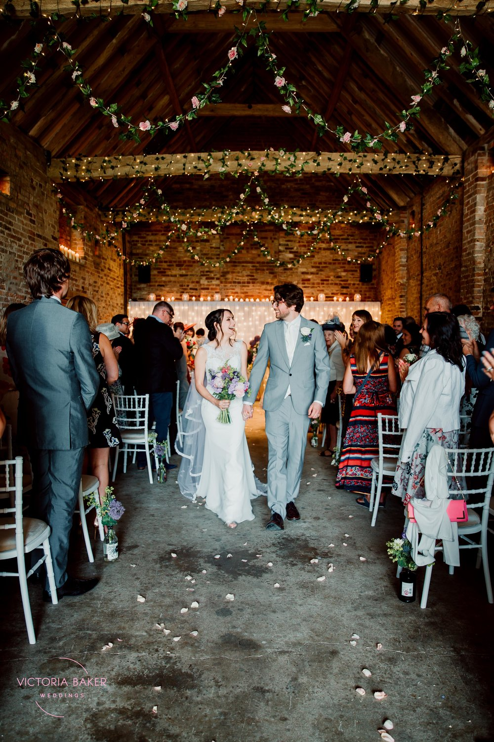Just Married at Barmbyfield Barn | Creative Yorkshire Wedding Photographer