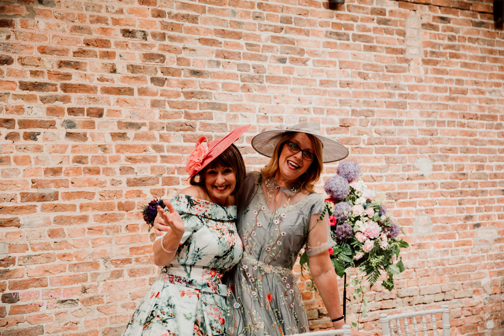 Mothers of the bride and groom at Barmbyfield Barn | Creative Yorkshire Wedding Photographer