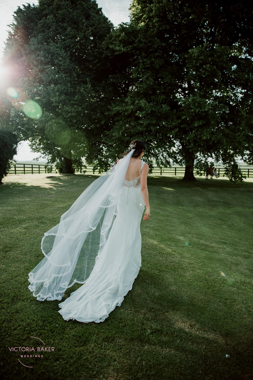 Bride at Golden Hour at Barmbyfield Barn | Creative Yorkshire Wedding Photographer