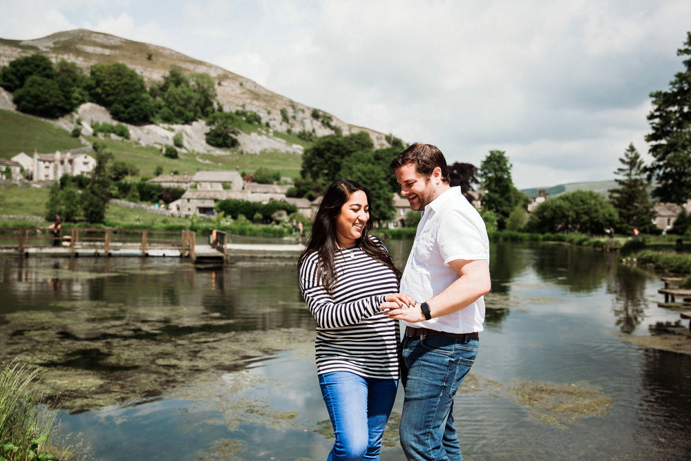 Safia & Jonathan Engagement at Kilnsey Park Estate