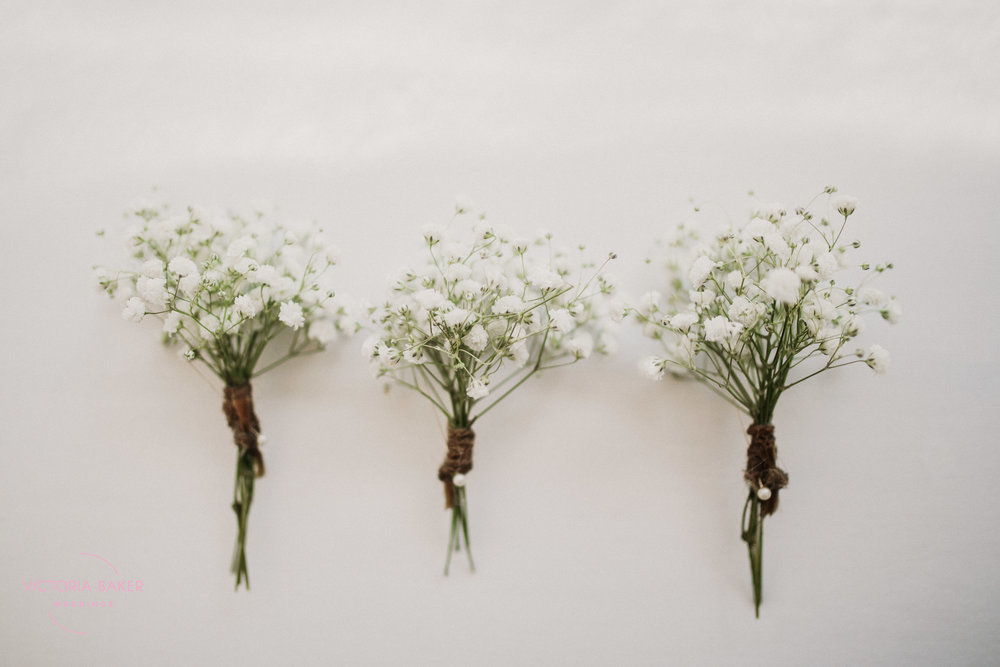 Buttonholes Emily & Adam Woodland Sheffield Wedding